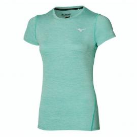 Camiseta running Mizuno Impulse Core turquesa mujer