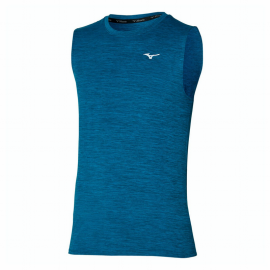 Camiseta running Mizuno Impulse Core Sleeveless azul hombre