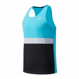 Camiseta running New Balance Accelerate Singlet azul negro