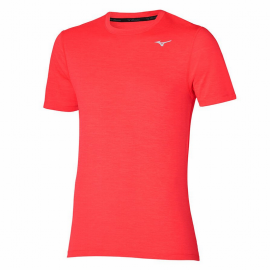 Camiseta training Mizuno Impulse Core rojo flúor hombre