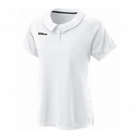 Polo tenis Wilson Team II blanco mujer