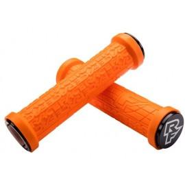 Puños Race Face Grippler, 33mm Lock on, 132mm naranja