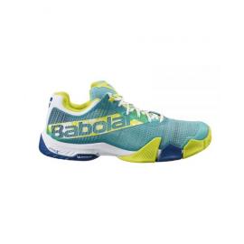 Zapatillas pádel Babolat Jet Premura verde amarillo hombre