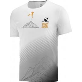 Camiseta Salomon Sense Tee Golden Trail Series blanco hombre