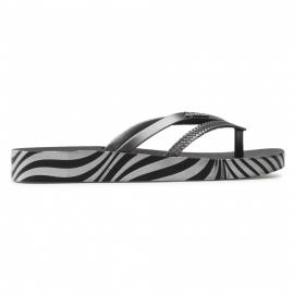 Sandalias verano Ipanema Bossa Soft V negro plata mujer