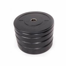 Disco Amaya Black Rubber Bumper Plate 10kg