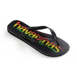 Chanclas Havaianas Top Logomania negro rojo amarillo verde
