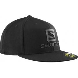 Gorra trail running Salomon Logo Cap Flexfit negro