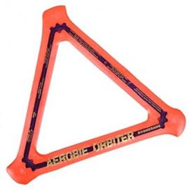 Disco triangular Orbiter Boomer naranja frisbee