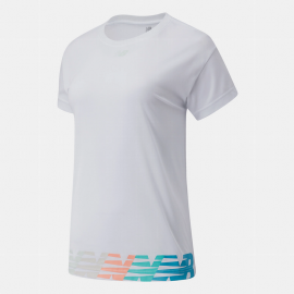 Camiseta manga corta New Balance Relentless Novelty blanco