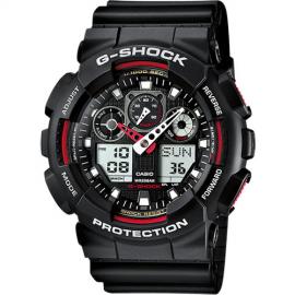 Reloj Casio G-Sock Analógico Digital GA-100-1A4ER negro rojo