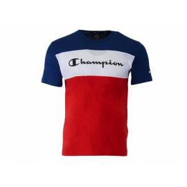 Camiseta manga corta Champion 216197 azul blanco rojo hombre