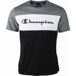 Camiseta manga corta Champion 216197 gris blanco negro
