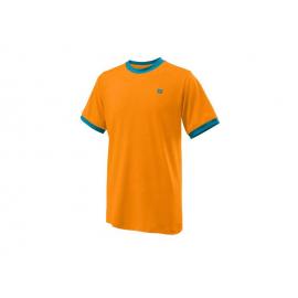 Camiseta tenis Wilson Competition Crew naranja junior