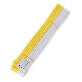 Cinturón kárate judo Yosihiro blanco amarillo junior