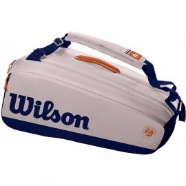 Raquetero Wilson Premium Roland Garros 9pk gris marino