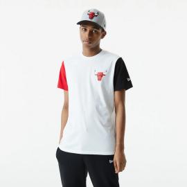 Camiseta New Era NBA Colorblock Bulls blanco negro rojo