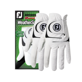 Guantes Footjoy Weathersof pack x2 blanco
