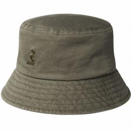 Sombrero Pescador Kangol Washed Bucket musgo