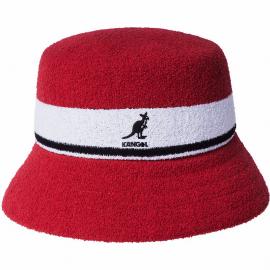 Sombrero Kangol Bermuda Stripe rojo blanco