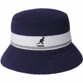 Sombrero Kangol Bermuda Stripe marino blanco