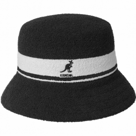 Sombrero Kangol Bermuda Stripe negro blanco