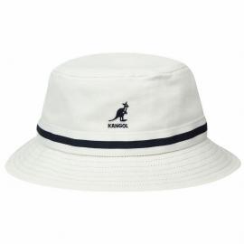 Sombrero Pescador Kangol Stripe Lahinch blanco