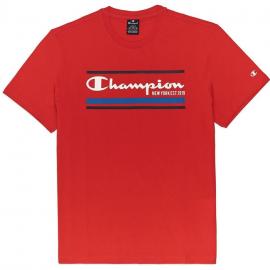 Camiseta Champion Cuello redondo  214306 rojo hombre