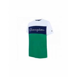 Camiseta Champion Cuello redondo 214244 blanco/azul/verde