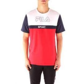 Camiseta Fila Manning Block blanco/rojo hombre