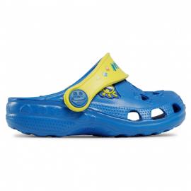 Zuecos Coqui Little Frog azul amarillo infantil