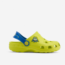 Zuecos Coqui Little Frog amarillo azul infantil