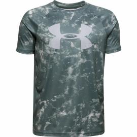 Camiseta Under Armour Tech Big Logo azul lichen niño