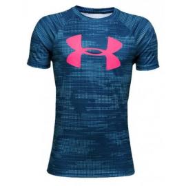 Camiseta Under Armour Tech Big Logo SS azul niño
