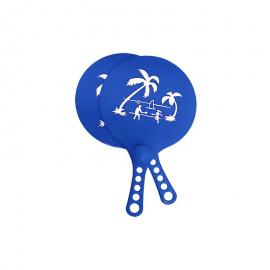 Juego de palas de playa Softee ABS + pelota Palm azul