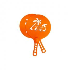 Juego de palas de playa Softee ABS + pelota Palm naranja