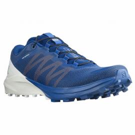 Zapatillas trail running Salomon Sense 4 Pro azul blanco