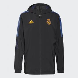 Chaqueta adidas Real Madrid Presentación 2021/22 negro