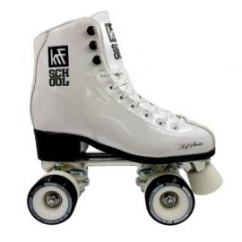 Patines en paralelo KRF Roller School Alu Leather blanco