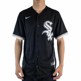 Camiseta Nike Réplica MLB Chicago White Red Sox negro hombre