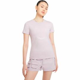 Camiseta manga corta Nike Icon Clash lila mujer
