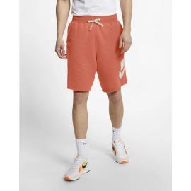 Pantalón corto Nike NSW HE FT Alumni naranja hombre