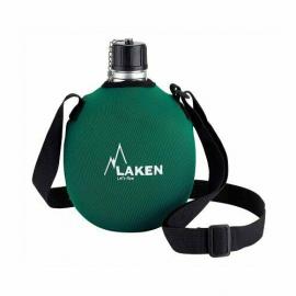 Laken Cantimplora Clasica 1Litro+Funda Neopreno verde