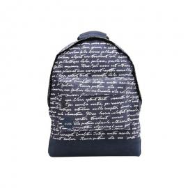Mochila Mi-Pac Mini azul escritura