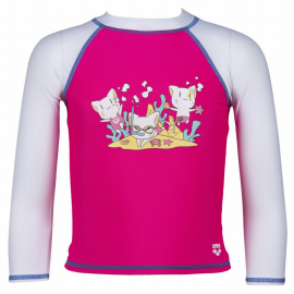 Camiseta manga larga Arena UV  Friends Kids rosa