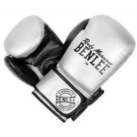 Guantes de boxeo Benlee Carlos plata negro