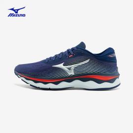 Zapatillas running Mizuno Wave Sky 5 azul gris rojo hombre