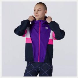 Cortavientos New Balance Fast Flight Jacket violeta mujer