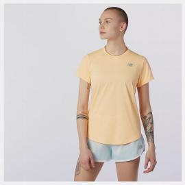 Camiseta running New Balance Accelerate naranja mujer