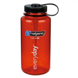 Botella Nalgene 1000ml boca ancha rojo